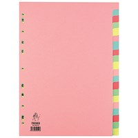 Everyday A4 Manilla 20-Part Divider - Multi-Colour Tabs