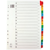 Everyday Multicoloured A4 Index - A-Z Mylar Tabs