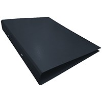 2-Ring Ring Binder A4 25mm Black (Pack of 10)