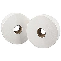 Mini Jumbo White 2-Ply Toilet Roll 150 Metres (Pack of 12) J26150