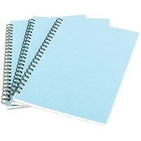 A5 Spiral Pad 80 Leaf Blue - Pack of 12