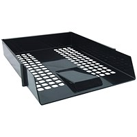 Black Plastic Letter Tray (Pack of 12)