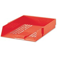Red A4 Contract Letter Tray (Plastic Construction and Mesh Design)