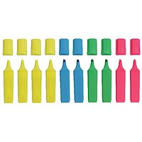 Hi-Glo Highlighter Chisel Tip Assorted (Pack of 10)