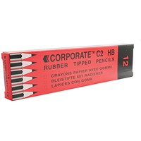 Contract Pencil Eraser Tipped (Pack of 12)