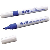 Blue Whiteboard Markers Chisel Tip (Pack of 10)