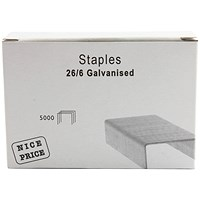 26/6mm Metal Staples (Pack of 5000)