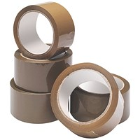 Buff Packaging Tape 48mmx66m (Pack of 6) WX27010