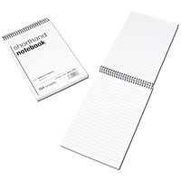 Spiral Shorthand Notebook 150 Leaf - Pack of 10