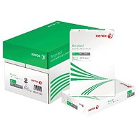 Xerox Recycled A4 Paper White, 80gsm, (Pack of 2500)