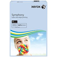 Xerox Symphony Tints Paper - Pastel Blue, A3, 80gsm, Ream (500 Sheets)