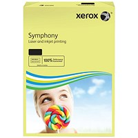 Xerox Symphony Tints Paper - Pastel Yellow, A3, 80gsm, Ream (500 Sheets)