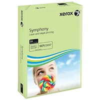 Xerox Symphony Tints Card - Pastel Green, A4, 160gsm, Ream (250 Sheets)