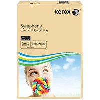 Xerox Symphony Tints Paper - Salmon, A4, 80gsm, Ream (500 Sheets)