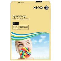 Xerox Symphony Tints Paper - Ivory White, A4, 80gsm, Ream (500 Sheets)