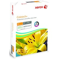 Xerox Colotech+ A3 Premium Copier Paper, White, 90gsm, Ream (500 Sheets)