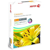 Xerox Colotech+ A4 White Paper, 160gsm, Ream (250 Sheets)