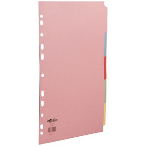 Image of Concord Commercial File Dividers / 5-Part / A4 / Assorted