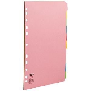 Image of Concord Subject Dividers / 10-Part / 10 Colours / A4 / Pack of 25