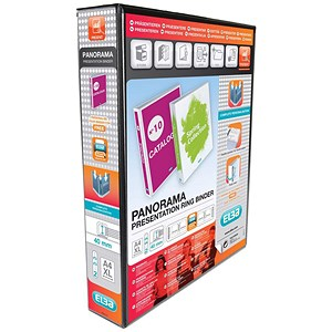 Image of Elba Panorama Leverless Arch Binder / A4 / 40mm Capacity / Black / Pack of 5