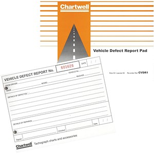Image of Chartwell Tachograph Vehicle Defect Report Pad - 50 Sheets