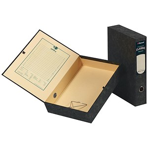 Image of Rexel Classic Box File with Lock Spring / Foolscap / Plain / Pack of 5