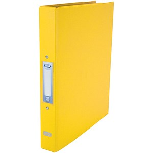 Image of Elba Ring Binder / 2 O-Ring / 40mm Spine / 25mm Capacity / A4 / Yellow / Pack of 10