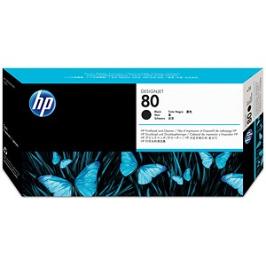 Image of HP 80 Black Printhead and Printhead Cleaner