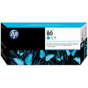 Image of HP 80 Cyan Printhead and Printhead Cleaner