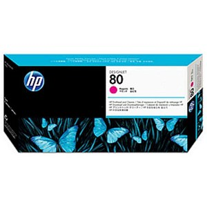 Image of HP 80 Magenta Printhead and Printhead Cleaner