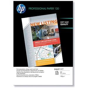 Image of HP A3 Professional Matt Inkjet Paper / 120gsm / 100 Sheets