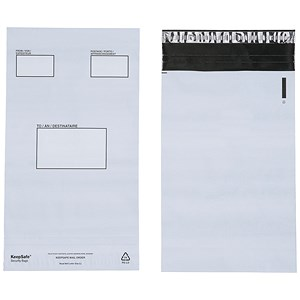 Image of Keepsafe Extra Strong Polythene Envelopes / C4 / Peel & Seal / Opaque / Box of 100