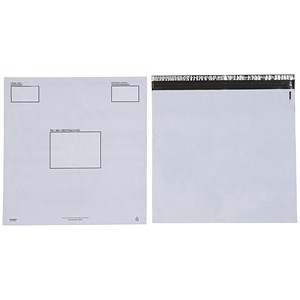 Image of Keepsafe Extra Strong Polythene Envelopes / DX / W460xH430mm / Peel & Seal / Opaque / Box of 100