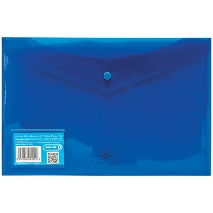 Image of Concord Stud Wallet Files / Translucent Polypropylene / Foolscap / Blue / Pack of 5