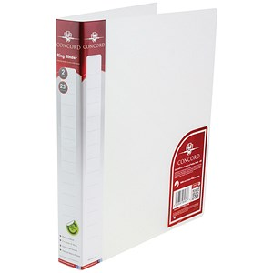 Image of Concord Natural Ring BInder / 2 O-Ring / 40mm Spine / 25mm Capacity / A4 / Clear / Pack of 10