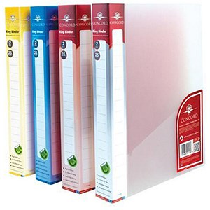 Image of Concord Natural Ring BInder / 2 O-Ring / 40mm Spine / 25mm Capacity / A4 / Assorted / Pack of 10