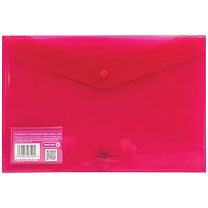 Image of Concord Stud Wallet Files / Vibrant Polypropylene / Foolscap / Pink / Pack of 5