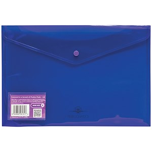 Image of Concord Stud Wallet Files / Vibrant Polypropylene / Foolscap / Purple / Pack of 5