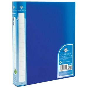 Image of Concord Vibrant Ring Binder / 2 O-Ring / 40mm Spine / 25mm Capacity / A4 / Blue / Pack of 10