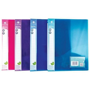 Image of Concord A4 Clamp Binders / Polypropylene / 75 micron / 100 Sheet Capacity / Assorted / Pack of 10
