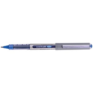 Image of Uni-ball Eye UB157 Rollerball Pen / Med / 0.7mm Tip / 0.5mm Line / Blue / Pack of 12