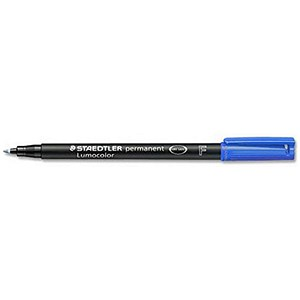 Image of Staedtler 318 Lumocolor Pen Permanent / Fine / Blue / Pack of 10