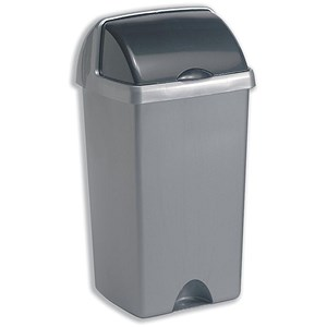 Image of Roll Top Bin / 50 Litres / Metallic Silver