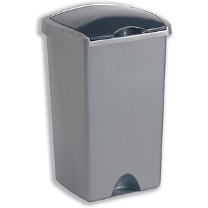 Image of Addis Bin with Lift-up Lid / 50 Litres / Metallic Silver