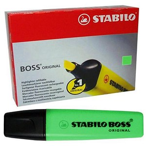 Image of Stabilo Boss Highlighters / Green / Pack of 10
