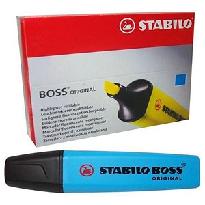 Image of Stabilo Boss Highlighters / Blue / Pack of 10