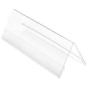Image of Seminar Table Place Name Holders / Tent-Shaped / A4 / Clear