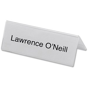 Image of Seminar Table Place Name Holders / Tent-Shaped / A5 / Clear