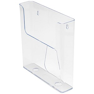 Image of Flatback Wall-Mounted Literature Holder / Single Pocket / Portrait / A4 / Clear