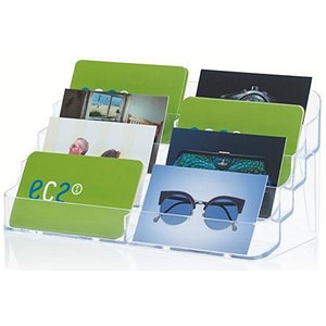 Image of Desktop Business Card Holder / 8 Pockets / Clear